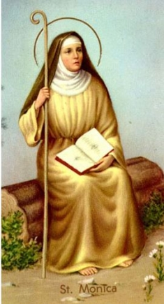 St. Monica paper holy card - Patron saint of Mothers