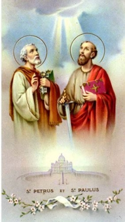 St. Peter And Paul paper holy card