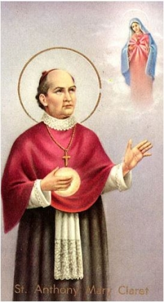 St. Anthony Mary Claret paper holy card
