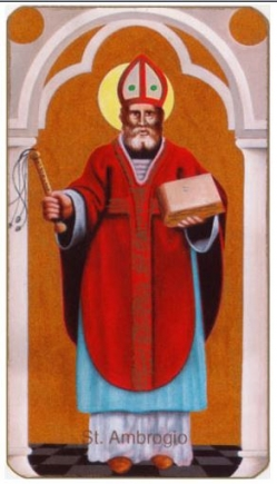 St Ambrogio paper holy card
