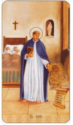 St Ivo paper holy card