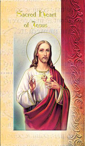Sacred Heart Lives of Saints card bi-fold