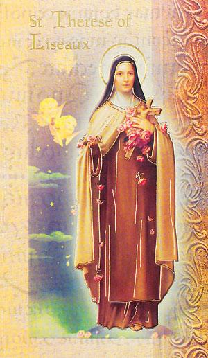 St. Therese Lives of the Saint card
