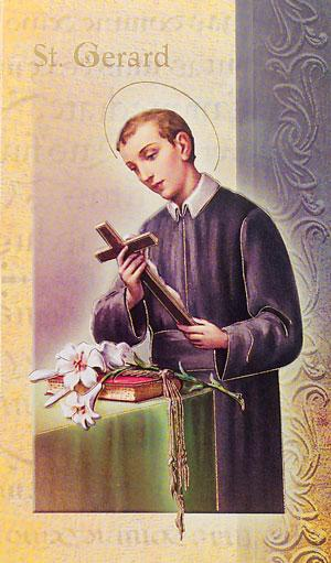 St. Gerard Lives of the Saints card