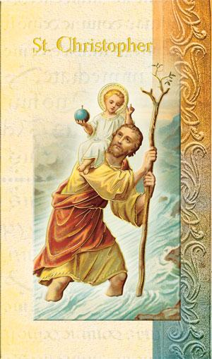 St. Christopher Lives of the Saints card