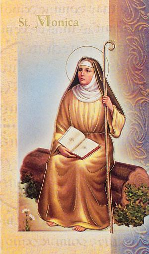 St. Monica Lives of the Saints card