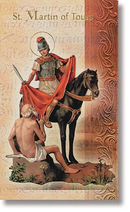Saint Martin of Tours Patron Saint Prayer Folder