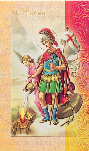 St. Florian Lives of the Saints card
