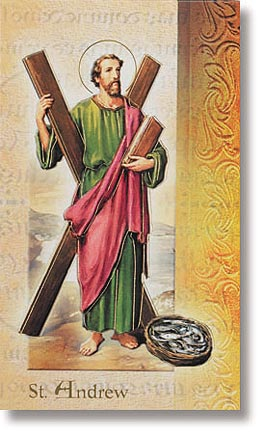 Saint Andrew Patron Saint Prayer Folder