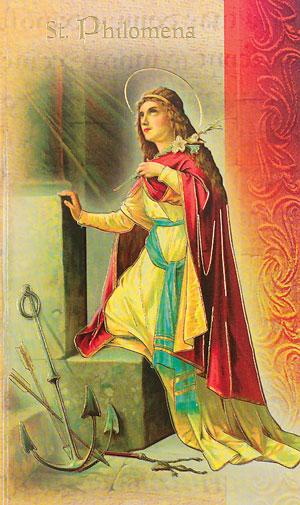 St. Philomena Lives of the Saints card