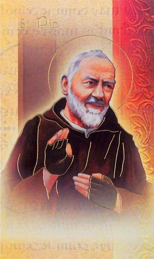 St. Padre Pio Lives of the Saints card