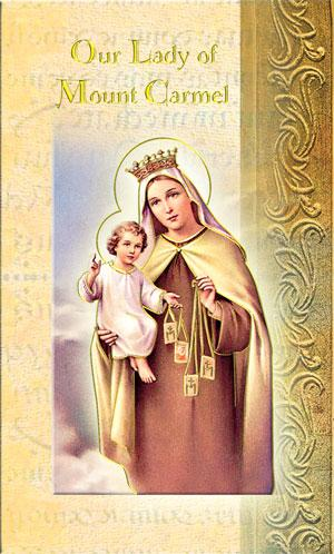 Our Lady of Mt. Carmel Mini lives of the saints bi-fold