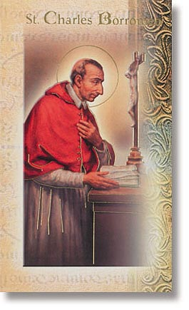 Saint Charles Borromeo Patron Saint Prayer Folder
