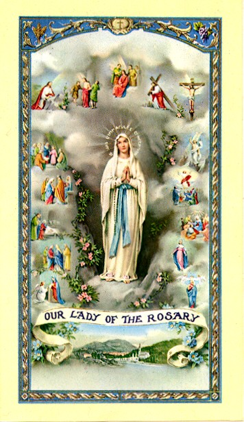 Buy 1 get 1 free Rosary Mysteries holy card (Limit 3 per order!)
