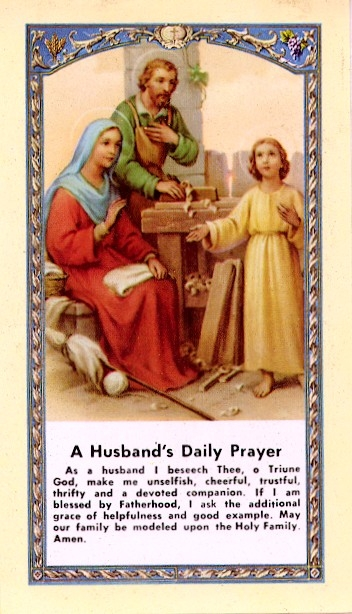 Value Priced Husband's Daily Prayer paper holy card