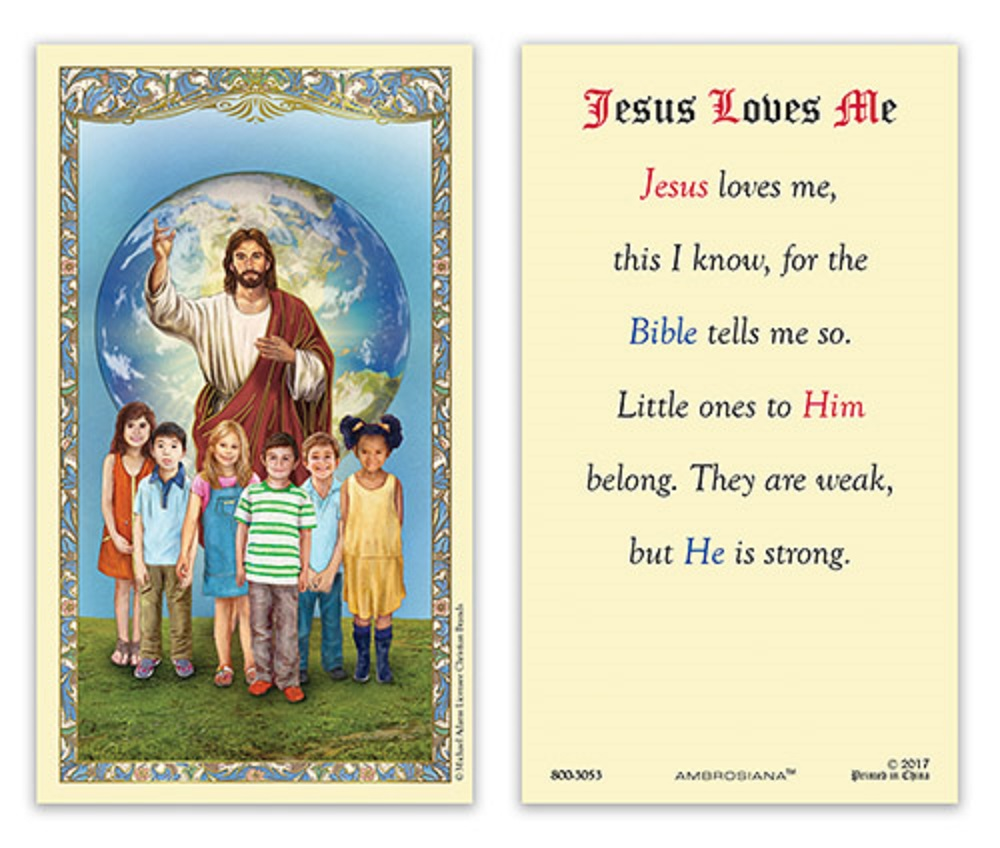 Special Value card of Jesus Loves Me