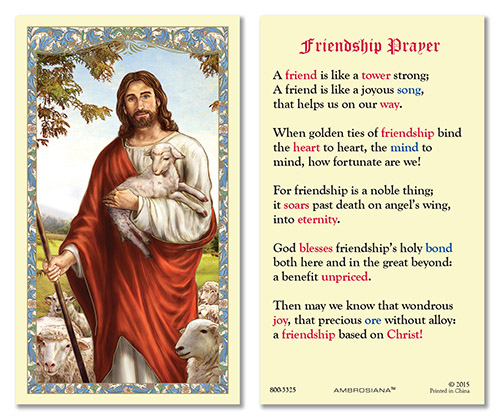 Jesus Shepherd Value Laminated Holy Card