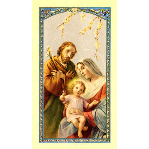 Value Priced Holy Family Paper Holy Card