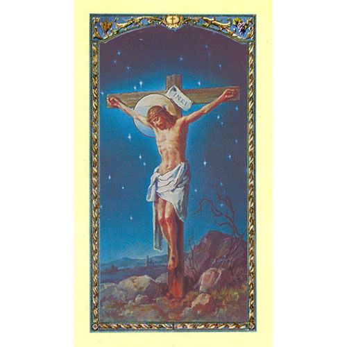 Value Priced Sonnet to Jesus Crucified Paper Holy Card