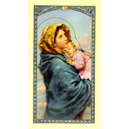 Value Priced Madonna of the Streets paper holy card