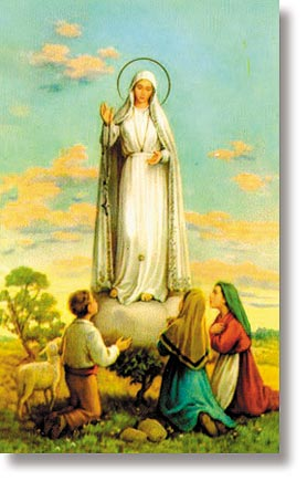 Our Lady of Fatima Wallet Sized Holy Card