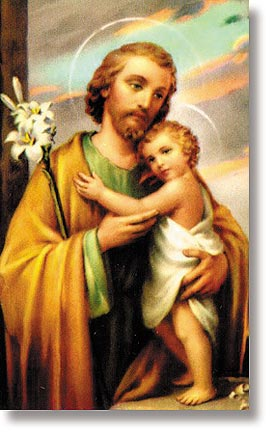 St Joseph Wallet Sized Holy Card