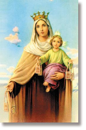 Our Lady of Mount Carmel Wallet Sized Holy Card