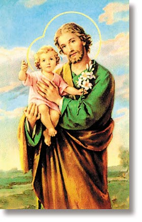 St Joseph with Child Wallet Sized Holy Card