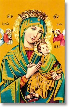 Our Lady of Perpetual Help Wallet Sized Holy Card