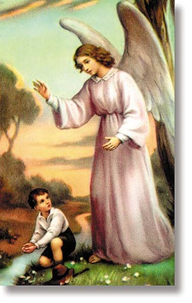 Guardian Angel Boy Wallet Sized Holy Card