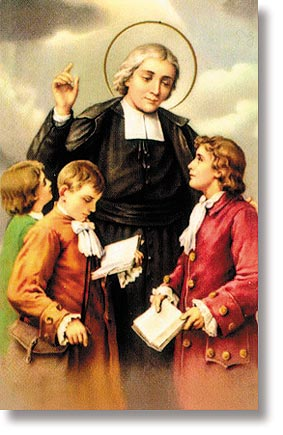 St John Baptiste Wallet Sized Holy Card with Teacher's Prayer