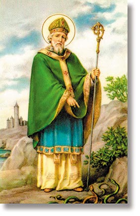 St Patrick Wallet Sized Holy Card
