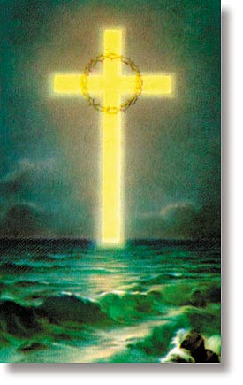 Cross Over the Ocean Wallet Sized Holy Card
