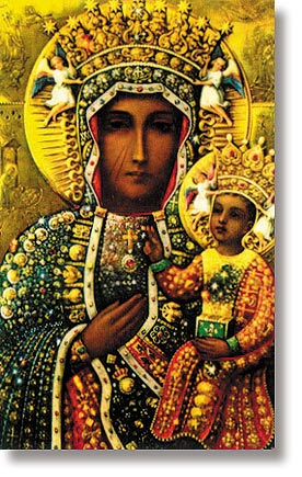 Our Lady of Czestochowa Wallet Sized Holy Card