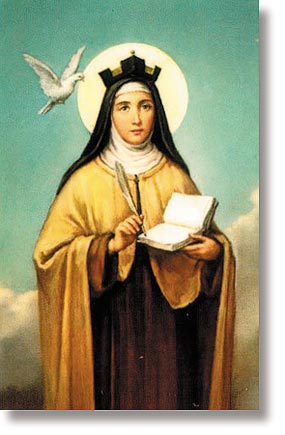 St Teresa of Avila Wallet Sized Holy Card