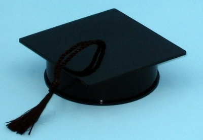 Black Graduation Cap containe