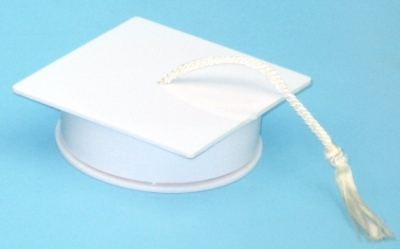 White Graduation Cap case