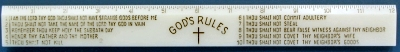 Ruler 12 inch God's Rules Ruler - Luminous