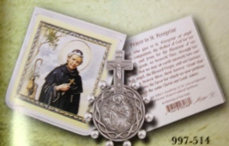 St. Peregrine Rosary Ring and card set