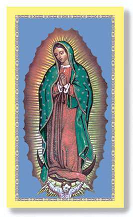 Guadalupe Paper Holy Card