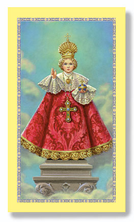 Infant of Prague Paper Holy Card