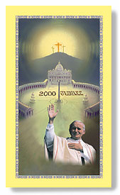 Millenium Memorial Pope John Paul II Holy card edition
