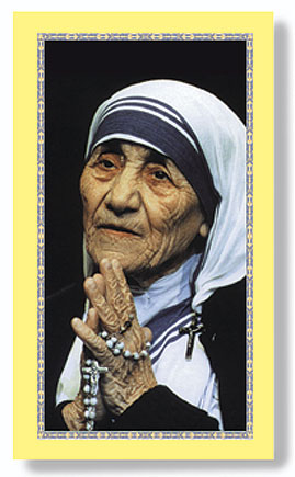 Mother Teresa paper holy card