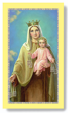 Paper Holy Card, Our Lady of Mt. Carmel