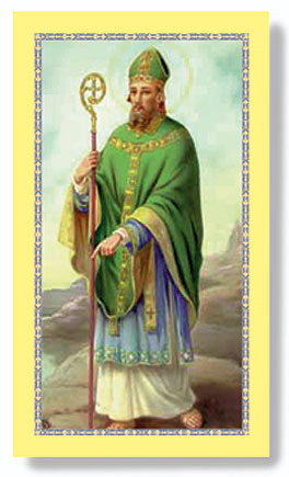 St. Patrick paper holy card