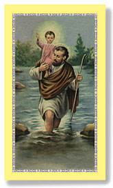 St. Christopher Paper Holy Card