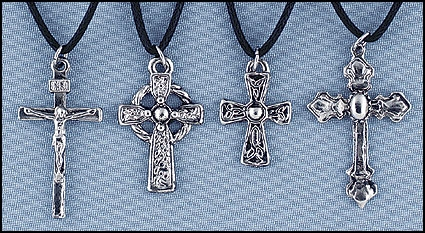 Metal Cross Assortment 4 of each - total 12