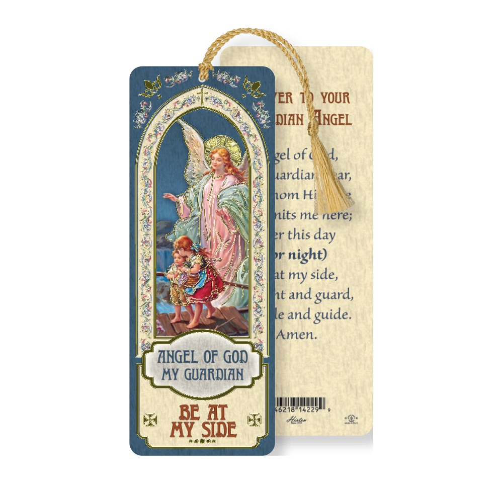 Angel of God bookmark with Tassel