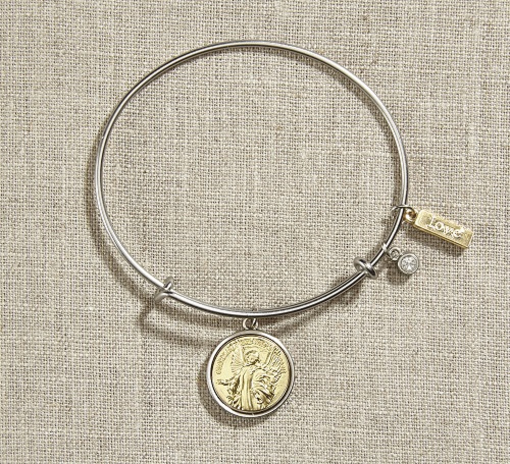 Vintage Guardian Angel Bangle Bracelet in Gift Bag