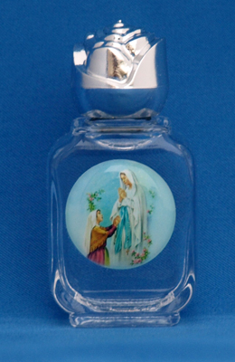 Small decorative Lourdes Water in bottle